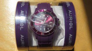 Armbanduhr Damenarmbanduhr Colour Watch Silikonuhr,  Lila - Bild