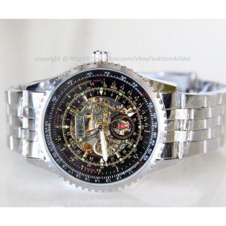 Herrenuhr Armbanduhr Mechanisch Edelstahlarmband Geschenk Uhm - Me - 01 Bild