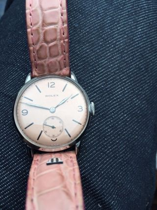 Rolex Damen Uhr Mit Lederband Ton In Ton Zur Uhr Bild