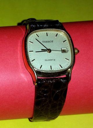 Tissot Le Locle Lunette Plaque Or G 10 Microns,  Damen,  Quarz,  Krokoband. Bild