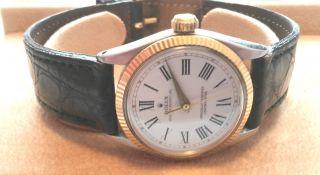 Rolex Medium Stahl Gold Ref 6551 Kaliber 1130 Medium Größe Vintage 1951 - 1952 Top Bild