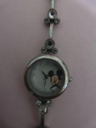 Disney Micky Maus,  Mickey Mouse Watch Damenuhr Uhr Mit Strasssteinen Bild
