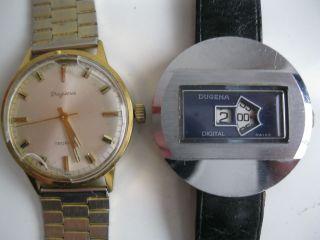 2 X Defekte Herren Armbanduhr Dugena Bild