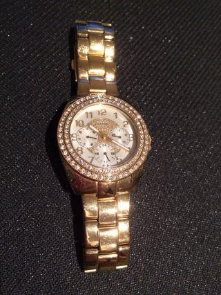 Golde Guess Uhr Mit Strassteinen Bild