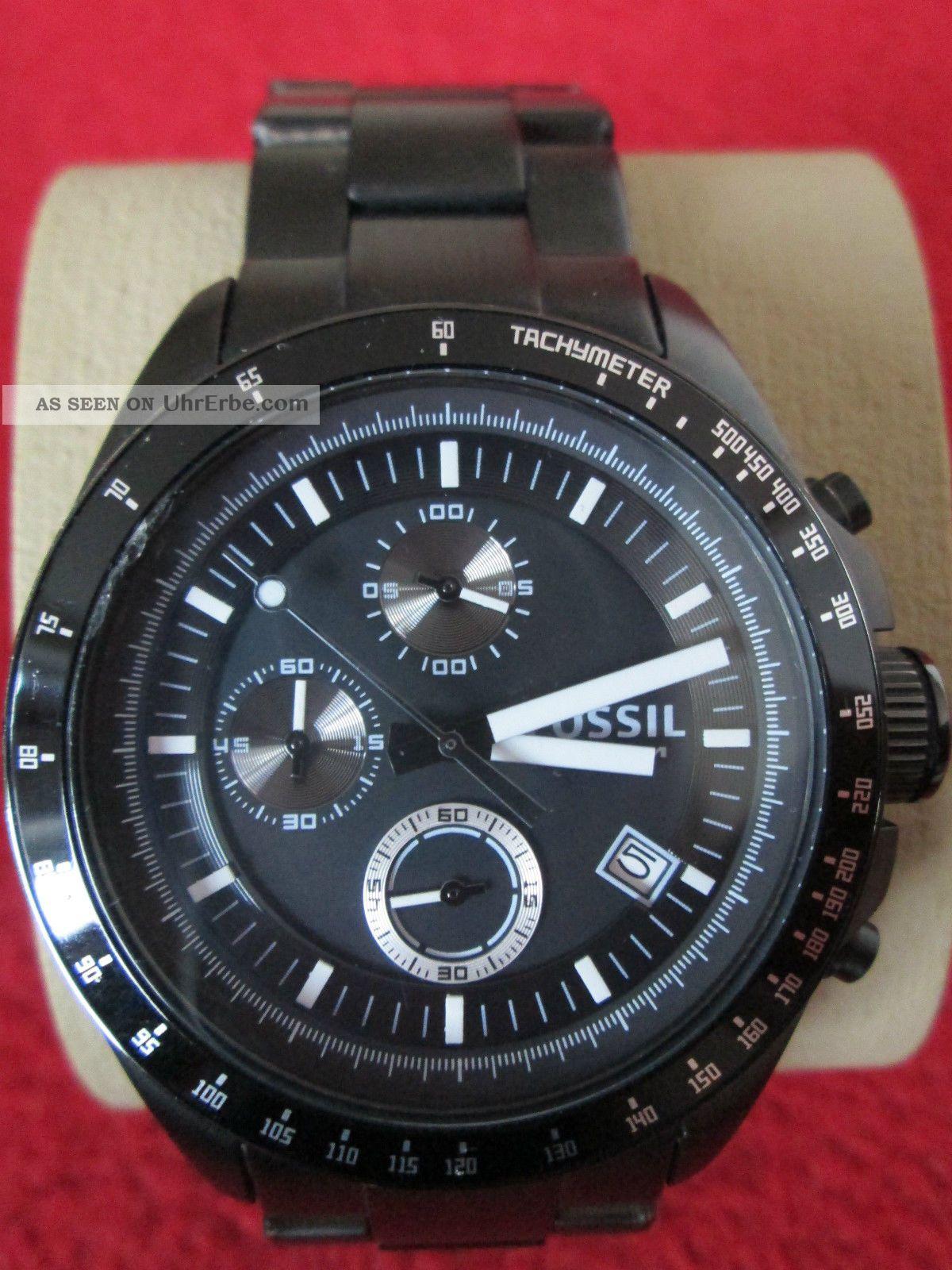 fossil ch2601 uhr herren armbanduhr chronograph men s. Black Bedroom Furniture Sets. Home Design Ideas
