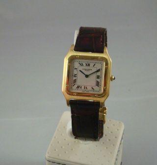 Cartier Santos Mechanique Handaufzug 750er Gold Mit Faltschliesse Bild