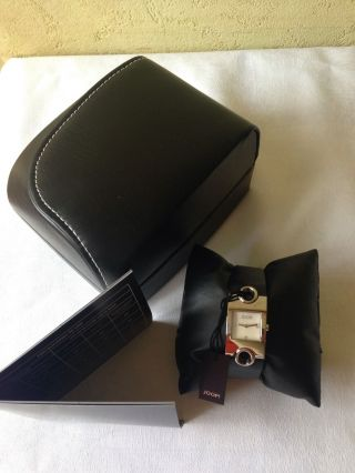 Silber Farb.  Org.  Joop Damen Armbanduhr,  Weihnachtsgeschenk Frau,  Leder Bild
