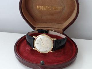 Vintage Audemars Piguet Geneve Herren Uhr 18k 0,  750 Gold V.  1950 Mit Box Bild