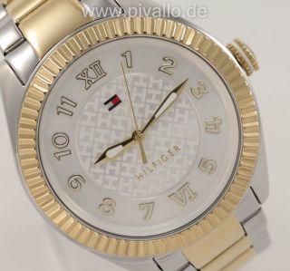 Tommy Hilfiger Maxi Damenuhr / Damen Uhr Edelstahl Gold 1781343 Bild
