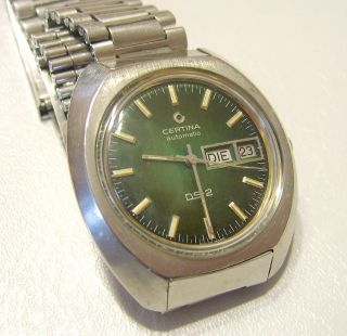 Certina Ds - 2,  Automatic,  Certiday,  Day/date,  Turtle Back,  Bracelet,  Swiss Bild