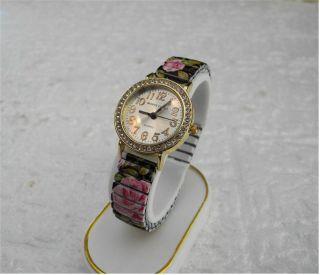 Traumhafte Damen Uhr - Pretty Rose - Flexi Uhrband - Mit Steinen Besetzt - Top Bild
