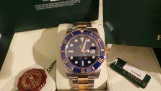 Rolex Oyster Perpetual Submariner Date Armbanduhr Für Herren (116613lb) 2014er Bild