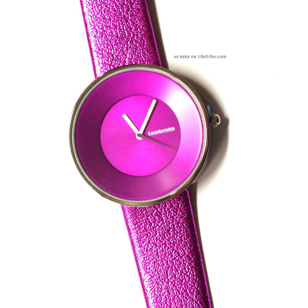 Leder Armband Lambretta Damen Cielo 2103 Metallic Armbanduhr Pink m0Nnw8