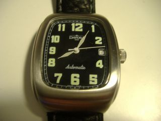 Hau Davosa,  Swiss Made,  Automatic,  Datum,  Groß 43x37cm,  Vollstahl,  Läuft Perfekt Bild