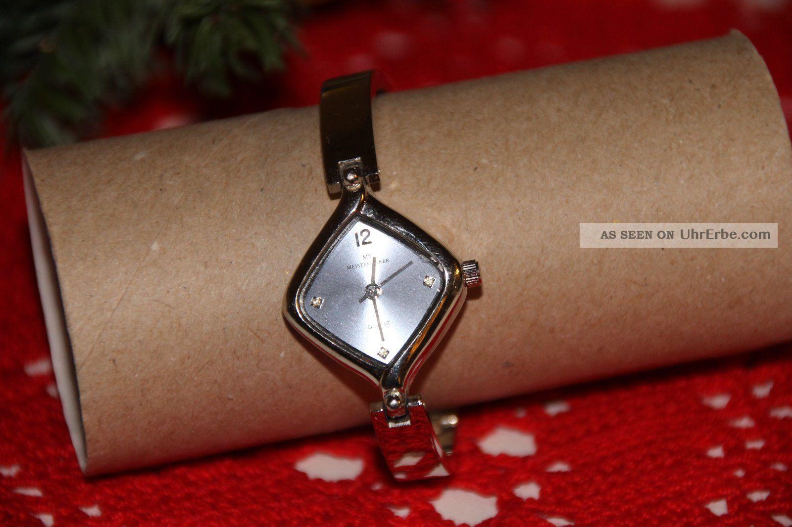 meister anker damen armband uhr silber hellblaues ziffernblatt. Black Bedroom Furniture Sets. Home Design Ideas