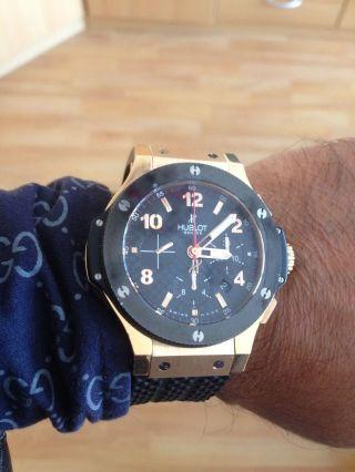 Herren Armbanduhr Hublot Big Bang 44.  5mm Evolution 750 Rotgold Keramik Automatik Bild