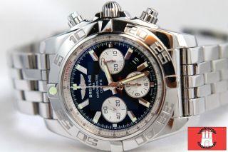 Breitling Chronomat 44mm B01 Ref: Ab0110 Edelstahl Mit Pilotband Im Bild