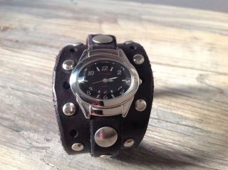 Red Monkey Uhr Watch Handmade Usa Los Angeles Echt Leder Quartz Bild