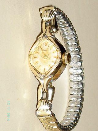 Dugena Armbanduhr Mechanisch Mit Elasto Fixo Armband Walzgold Double 40 Mikron Bild