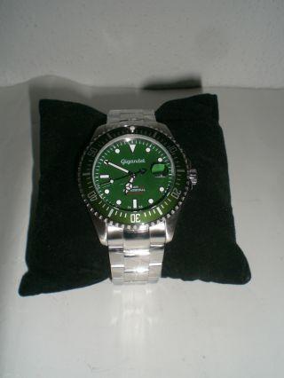 Armbanduhr Gigandet Sea Ground,  Automatik,  Edelstahlband,  Grün,  Wasserdi.  30atm Bild