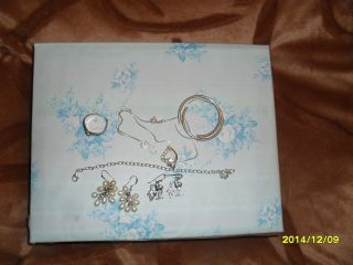 Schmuck Paket Guess & Echt Silber 925 Creolen,  Trauben Ohrring,  Armband Bild