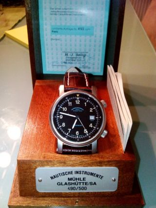 Limited Mühle Glashütte Cockpit - Timer / Chronometer,  Unterlagen Mit Nummer Bild