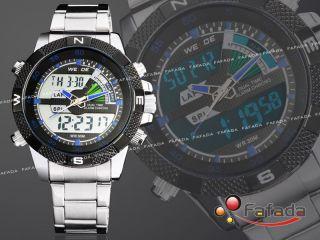 Weide Herrenuhr Dual Digital Analog Herren Quarz Armbanduhr Uhr Quarzuhr Fashion Bild