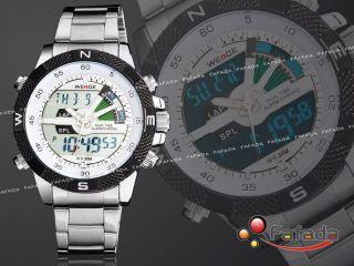 Weide Herrenuhr Herren Digital Analog Quarz Uhr Stoppuhr Quarzuhr Armbanduhr Bild