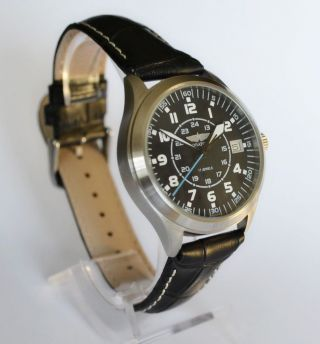 Poljot Aviator,  Russian,  Military,  Mechanical Men's Watch. Bild