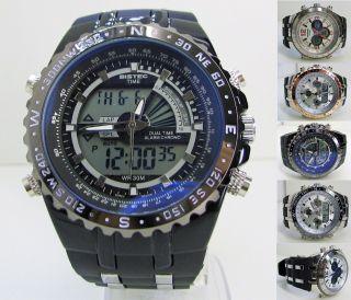 Dual Sportuhr Armbanduhr Wasserdicht - Datum - Alarm - Led Trend - Uhr Bst - Time Bild