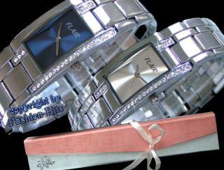 Edle Damenuhr Mit Strass Inkl.  Geschenk - Box Armbanduhr ° Uhr Bild