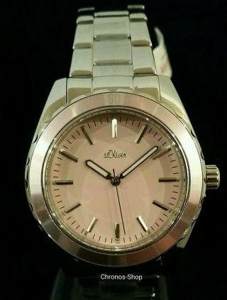 S.  Oliver Damen - Armbanduhr Casual Analog Quarz Edelstahl So - 2499 - Mq Bild