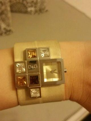 D&g Damenuhr Uhr Creme Beige Gold Braun Ovp Damen Uhren Steine Bild