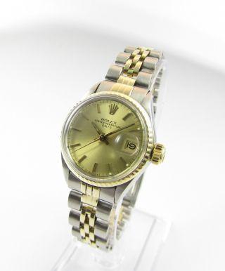 Rolex Date Oyster Perpetual Edelstahl/gold - Damenmodell Bild