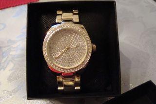 Damen Uhr Pure Time Strasssteine Goldfarben,  Top, Bild