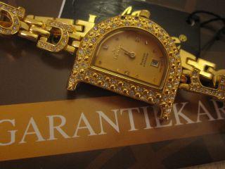 Laurine Damenuhr Vergoldet 18k Kristalle Ovp Prezise Quarzuhruhrwerk Bild