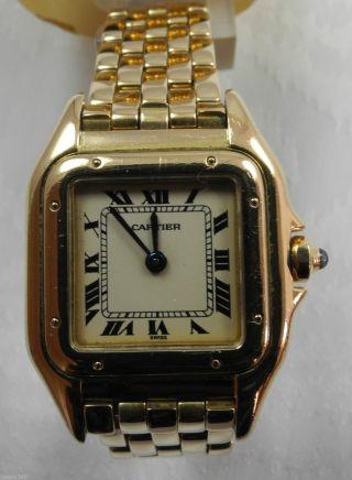 Cartier Panthere 750er Gelb Gold Quarz Uhr Armbanduhr Bild