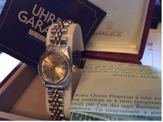 Oyster Rolex Perpetual Date Re.  6917 Stahl/750 Gold Jubilee Band Faltschliesse Bild