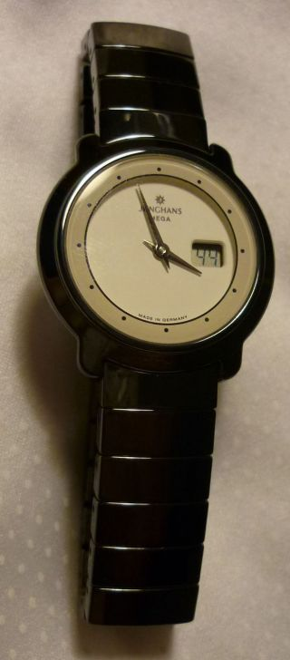 Junghans Mega Damenuhr Armbanduhr Funkuhr Uhr Ceramic Keramik - Armband Bild