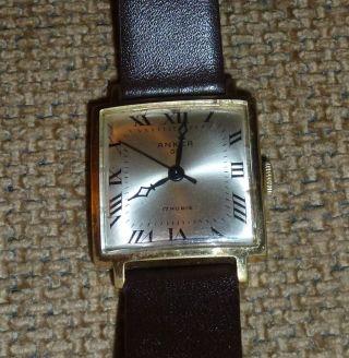 Schöne Armbanduhr Anker 09 Quadratisch 17 Rubis Handaufzug Vintage Bild