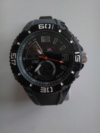 U.  S.  Polo Assn.  Uhr Chronograph Grau/schwarz Ungetragen Bild