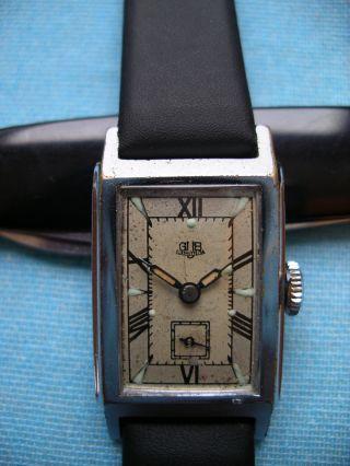 Gub Glashütte Herren Uhr Handaufzug Kal 62 Sammleruhr Bild