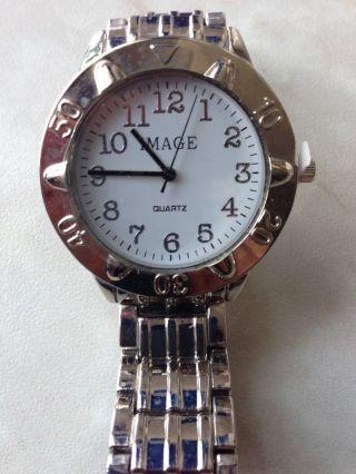 Herren Armband Uhr Von Image Quartz Armbanduhr Watch Weihnachten Geschenk Bild
