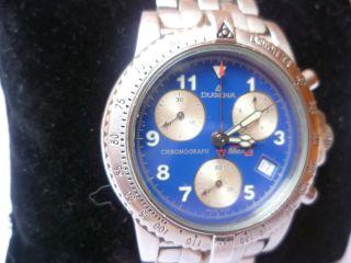 Herrenuhr Dugena Monza Chronograph Armbanduhr Stahl Vom Händler 7283 Bild