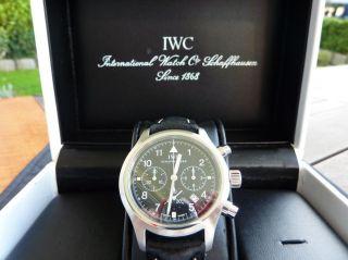 Iwc Fliegerchronograph Chronograph Edelstahl Herrenuhr Bild