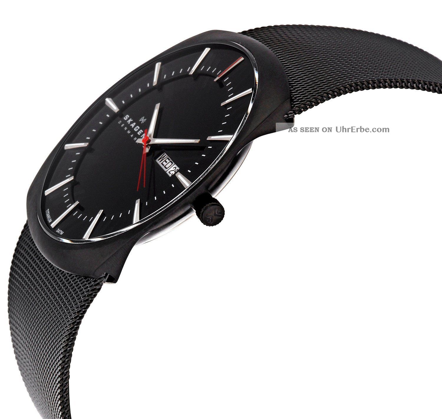 skagen herrenuhr slimline titanium 696xltbb skagen uhr titan. Black Bedroom Furniture Sets. Home Design Ideas
