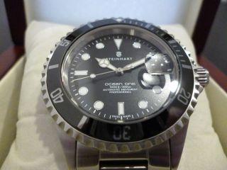 Steinhart Ocean One 1 Black Mit Keramik - Lünette Eta 2824 - 2 Wie Bild
