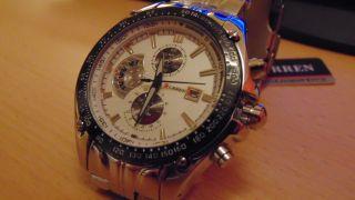 Der Neue Curren Analog Armbanduhr,  Gold Und Weiss,  Aus Edelstahl Bild