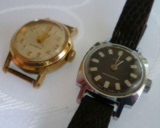 Zwei Vintage Timex Damen Armbanduhren Handaufzug Mechanisch 60er Jahre Bild