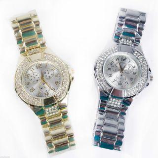 Designer Strass Damenuhr Armband Uhr Chronograph - Optik Uhr02 - 02 Bild